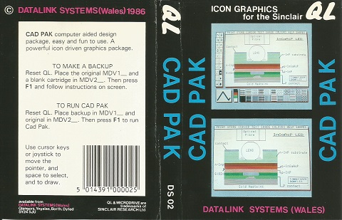 Inlay for Sinclair QL CAD PAK