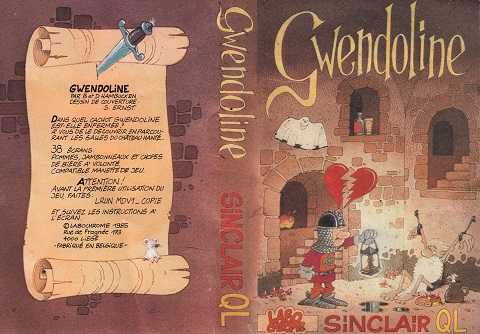 Packaging for Sinclair QL Gwendoline