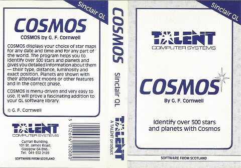 Inlay for Sinclair QL Cosmos