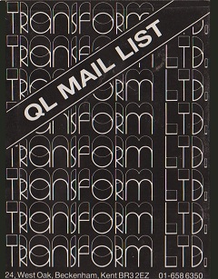 Packaging for Sinclair QL Mail List