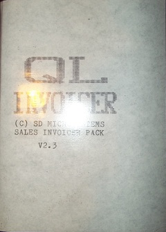Packaging for Sinclair QL Invoicer
