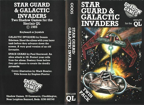 Inlay for Sinclair QL Star Guard and Galactic Invaders