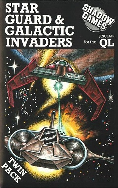 Packaging for Sinclair QL Star Guard and Galactic Invaders by Shadow Games