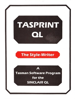 Sinclair QL Tasprint QL by Tasman Software