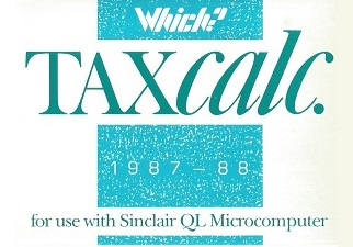 Packaging for Sinclair QL Taxcalc