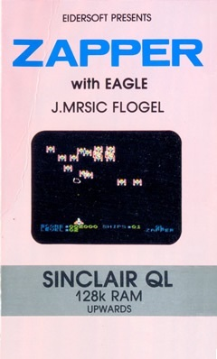 Packaging for Sinclair QL Zapper with Eagle