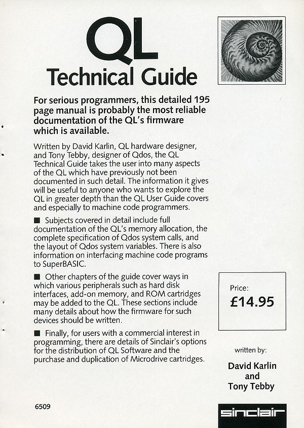 QL Technical Guide Leaflet by Sinclair