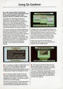 Leaflet for Sinclair QL Gardener
