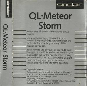 Inlay for Sinclair QL Meteor Storm