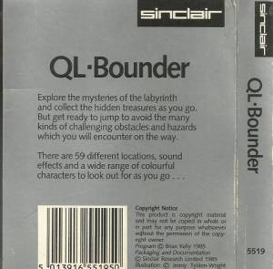 Inlay for Sinclair QL QL Bounder
