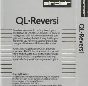 Inlay for Sinclair QL Reversi