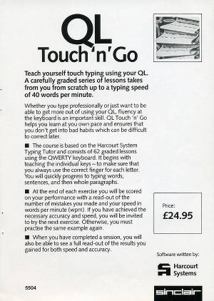 Leaflet for Sinclair QL Touch 'n' Go
