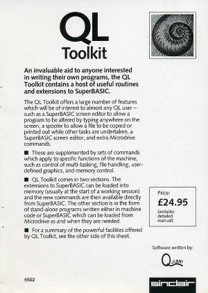 Leaflet for Sinclair QL Toolkit