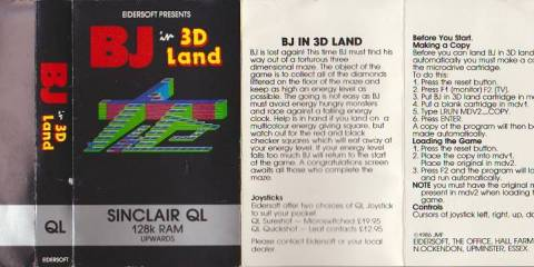 Cassette Inlay for Sinclair QL BJ in 3D Land
