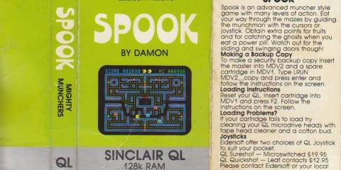 Cassette Inlay for Sinclair QL Spook