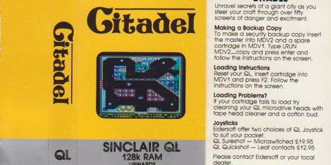 Insert for Sinclair QL Citadel