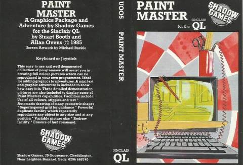 Inlay for Sinclair QL Paint Master